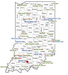 Indiana State Map by Indiana State Parks Lakes And Reservoirs