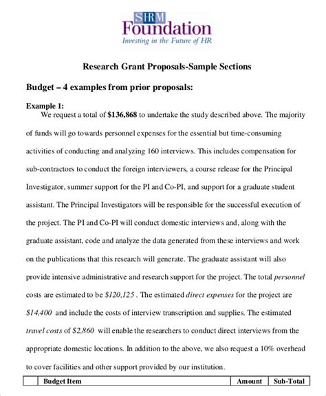 research design grant proposal grant proposal template 10 free word pdf documents