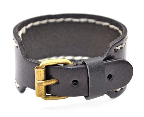 Genuine Leather Bracelet genuine leather bracelet buckle bracelet straps