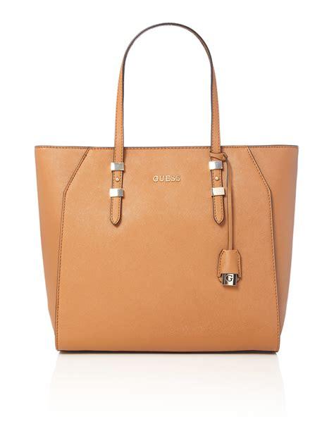 Guess Bag guess gigi tote shoulder bag in brown lyst