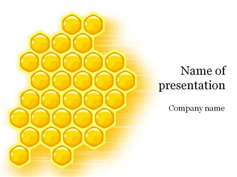 bee powerpoint template free honeycomb powerpoint template for presentation
