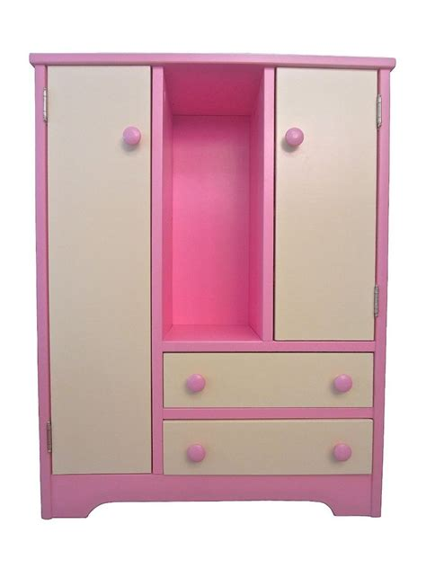 Handmade American Furniture - 18 quot doll wood wardrobe hutch furniture wooden american