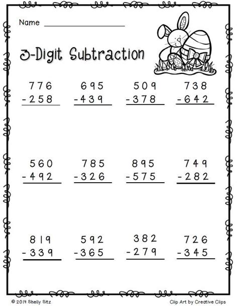 17 best images about 3 digit addition and subtraction on