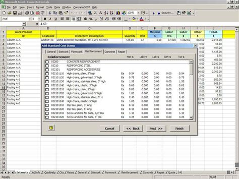 concrete estimate template estimating template archives construction cost estimate