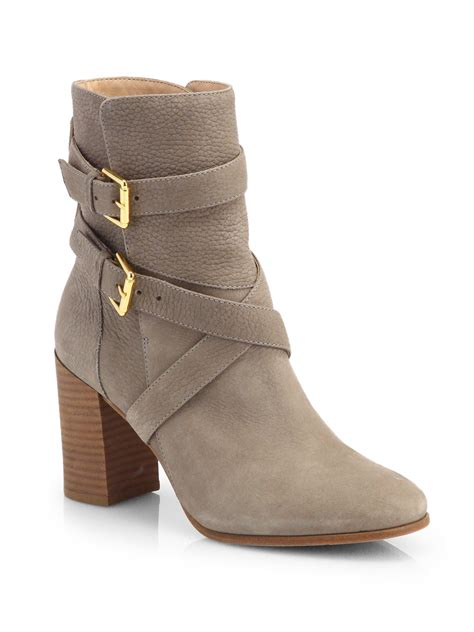 kate spade boots kate spade lexy leather buckle ankle boots in gray