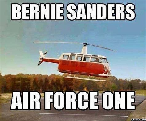 Air Force One Meme - hilarious meme shows bernie sanders air force one