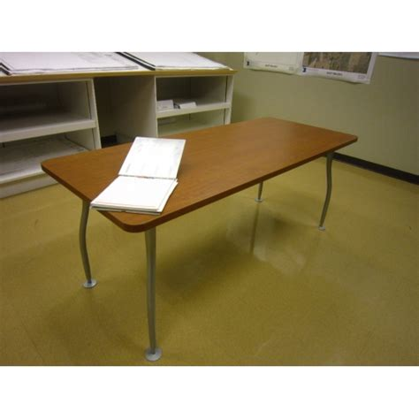 Grey Meeting Table Cherry Wood Meeting Table Grey Legs Allsold Ca Buy Sell Used Office Furniture Calgary