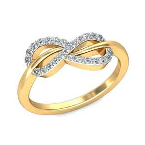 Engagement Rings Infinity Design Infinity Design Engagement Ring In Yellow