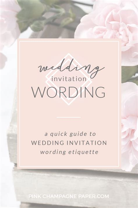 wedding etiquette invitations wording guide to wedding invitation wording etiquette pink