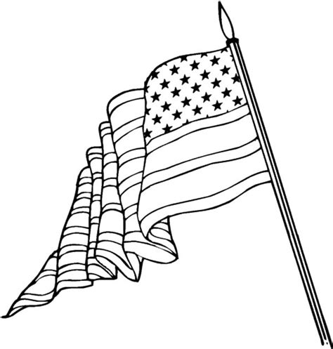 coloring pages of the american flag american flag