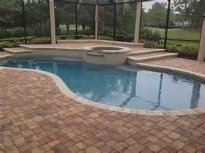 paver pool deck brick paver pool deck installation