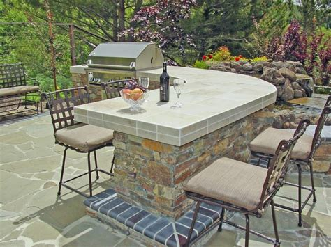 Barbecue Patio by Bbq And Pond With Flagstone Patio