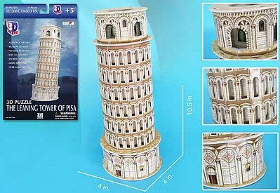 Cubic Puzzle 3d Leaning Tower Of Pisa Large Size leaning tower of pisa italy 13pcs 3d jigsaw puzzle 706 by cubic 706