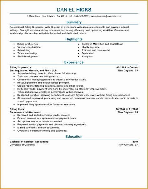 free billing resume templates 5 professional resume sle free free sles