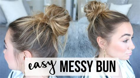 20 easy no heat summer hairstyle tutorials for medium hair gurl com 4 easy hair bun tutorials