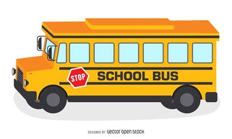 imagenes buses escolares animados ilustraci 243 n autob 250 s escolar amarillo descargar vector