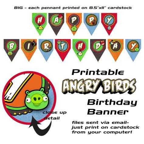 printable angry birds happy birthday banner birthday banner angry birds birthday ideas pinterest