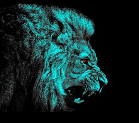wallpaper blue lion lion full hd wallpaper and background image 2160x1920