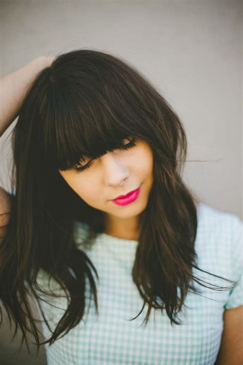 fringe clipped back hairstyles 25 best ideas about heavy bangs on pinterest full side