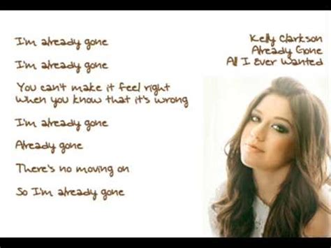 Im To See Clarkson by Clarkson Already Lyrics