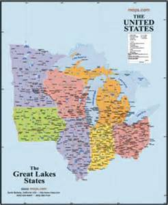 us map states and great lakes map of great lakes states get domain pictures