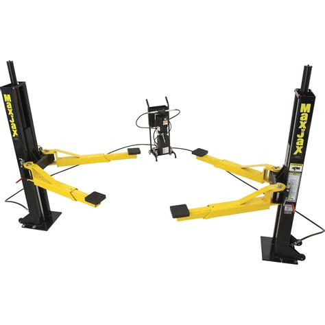 portable car lifts free shipping dannmar maxjax portable 2 post truck and