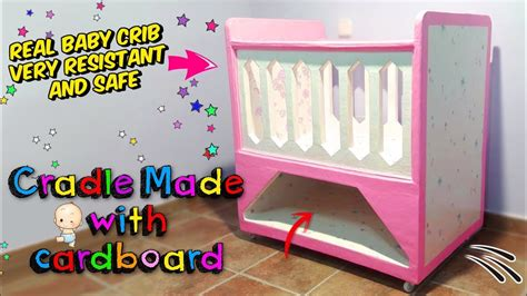 amazing crafts how to make a real baby crib only with