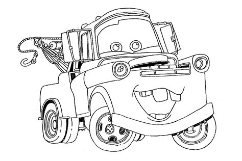 coloring pages of cars the movie tow mater coloring pages az coloring pages
