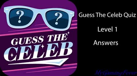 guess the celebrity guess the celeb quiz level 1 answers youtube