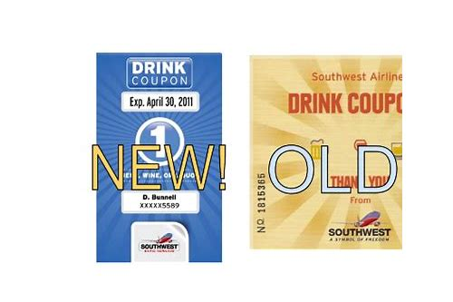 can you use southwest drink coupons on airtran