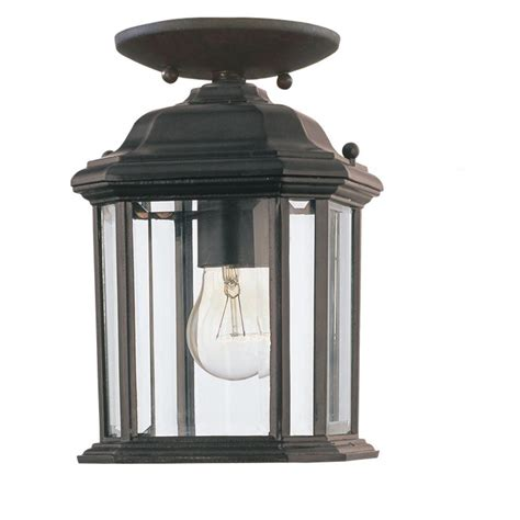 Sea Gull Lighting Kent 1 Light Outdoor Black Pendant Outdoor Light Fixtures Home Depot