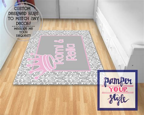 personalized rugs for nursery gray and pink princess nursery rug nursery rug personalized