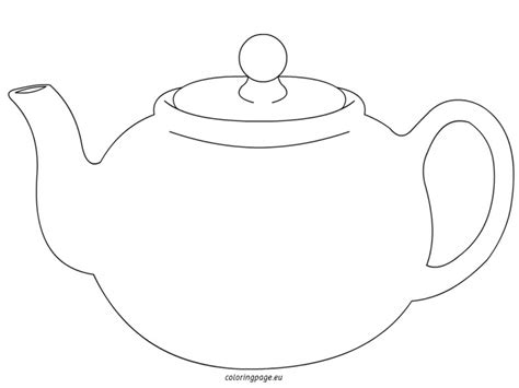 Teapot Card Template by Tea Pot Coloring Sheets Teapot Page Grig3 Org