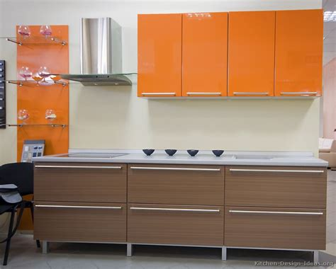 Pictures Of Modern Orange Kitchens Design Gallery Kitchen Laminate Designs