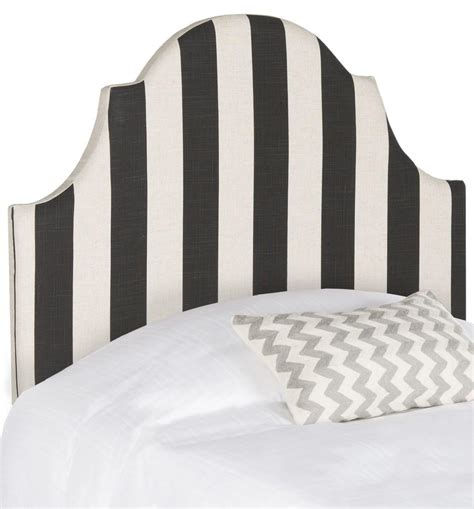 black and white striped headboard hallmar black white stripe headboard headboards