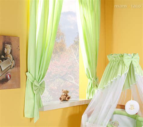 Gardinen Für Kinderzimmer gardinenschals grun baby gardinen f 252 r kinderzimmer mit