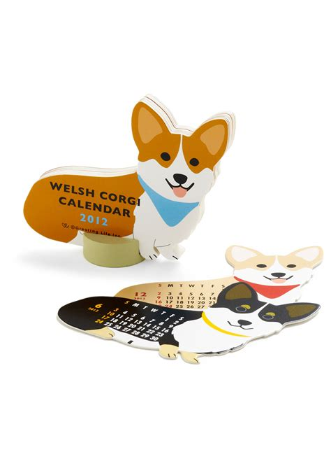 corgi desk calendar year of the critter calendar in corgi mod retro vintage