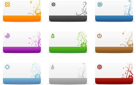 cards templates vector vector graphics