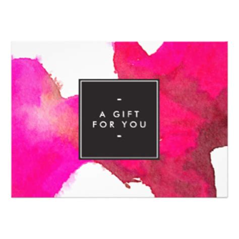 Pink Gift Card Codes - certificate cards zazzle