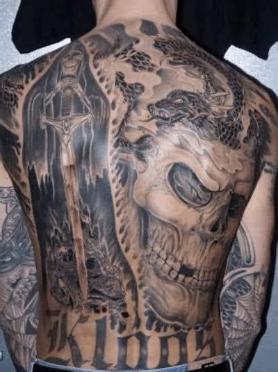 full body grim reaper tattoo amazing 3d skull tattoo on full back