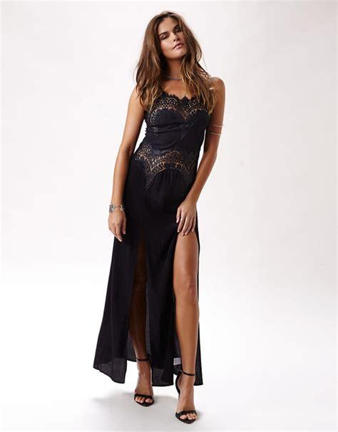 Strappy Slit Maxi Dress strappy high slit maxi dress wonder dress