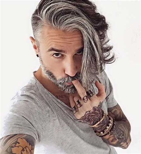 Mens Grey Hairstyles by Undercut Hairstyles For With Gray Hair