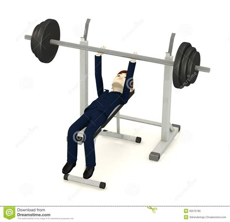 cartoon bench press cartoon businessman with benchpress royalty free stock