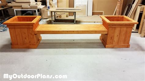 planter bench diy diy garden planter bench myoutdoorplans free woodworking plans and projects diy