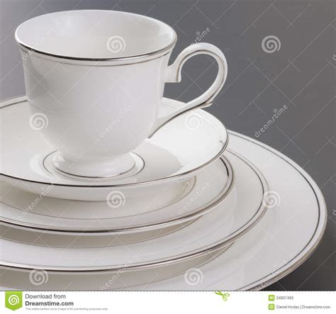 Black And White Dining Room Set dinner set of beautiful white gold rim and cup stock