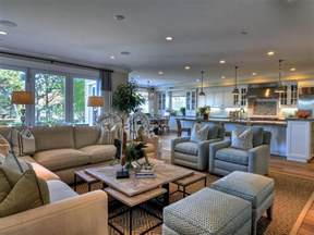 decorating ideas for open living room and kitchen open concept living room with coastal theme hgtv
