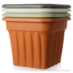 buy plastic planters for the garden large square