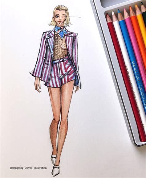fashion sketches inspired by new york fashion week ss18 season fashion and illustrator