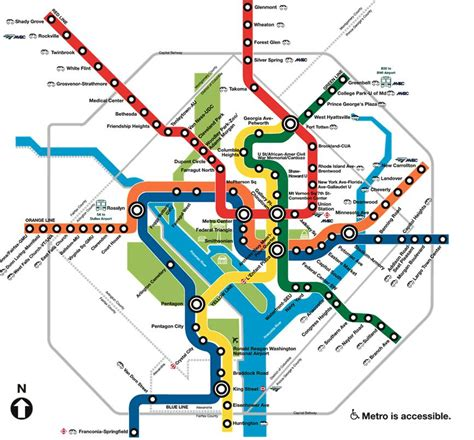 washington dc railroad map washington dc metro map overlay