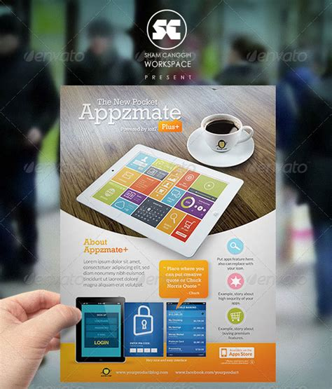 30 Effective Web Mobile Apps Flyer Psd Templates Web Graphic Design Bashooka Magazine Template App